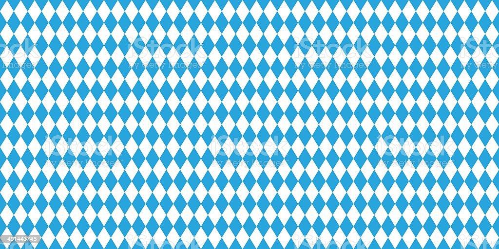 Seamless Oktoberfest blue background vector art illustration