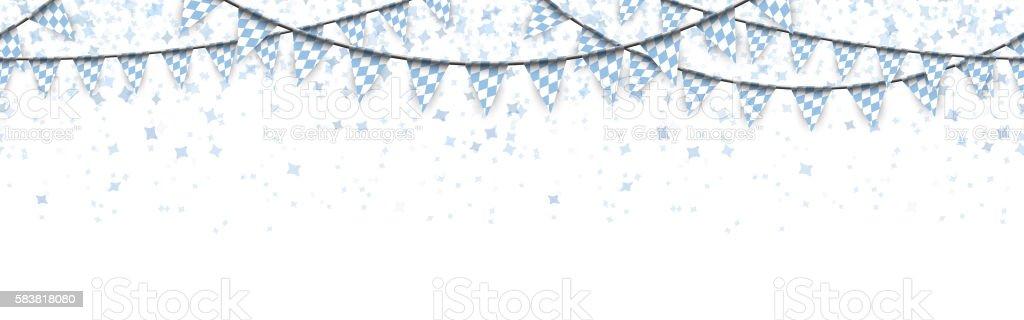 seamless Oktoberfest garlands with confetti vector art illustration