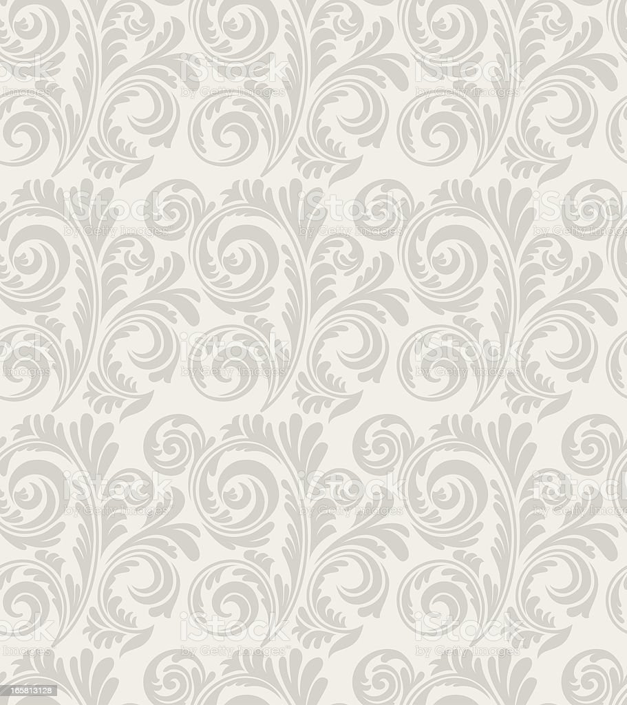 Seamless Old Style Wallpaper Pattern royalty-free stock vector art
