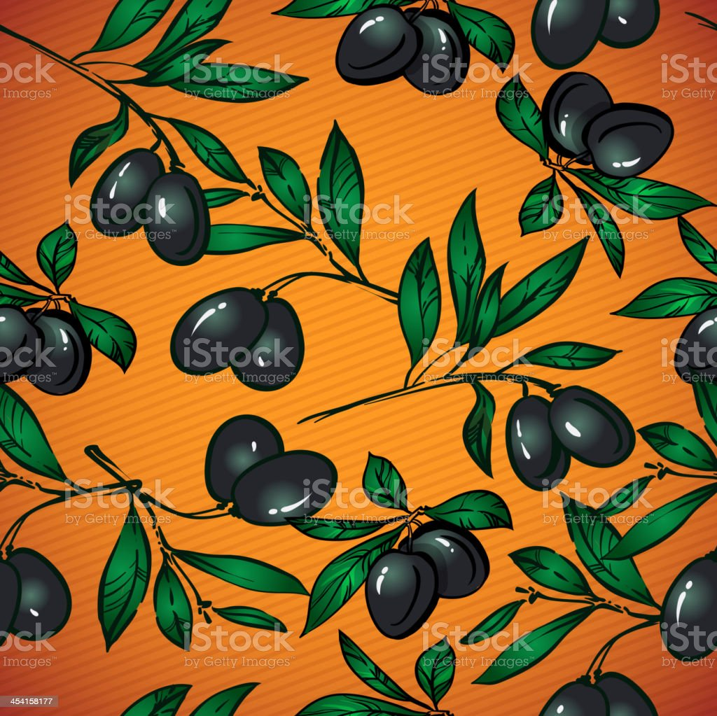 seamless olive vector pattern royalty-free stock vector art