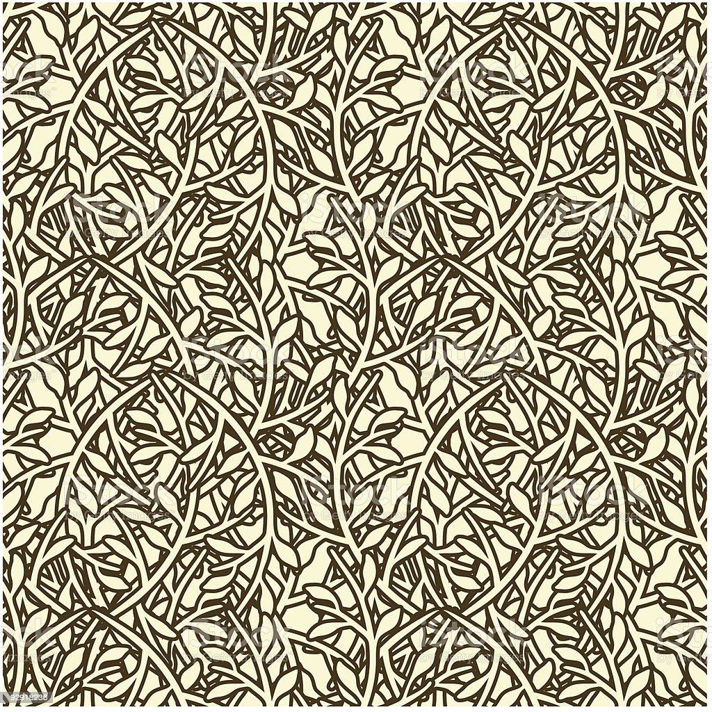 Seamless Organic Wallpaper Pattern vector art illustration