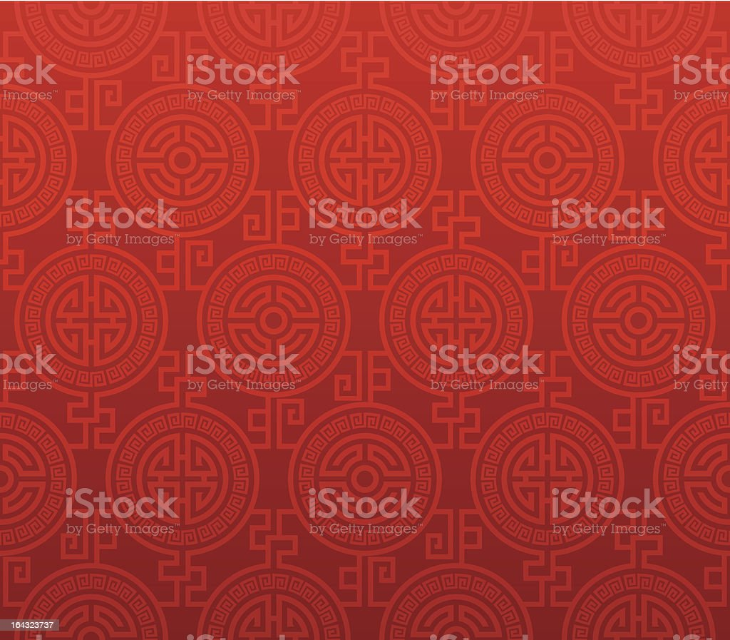 Seamless Oriental Pattern vector art illustration