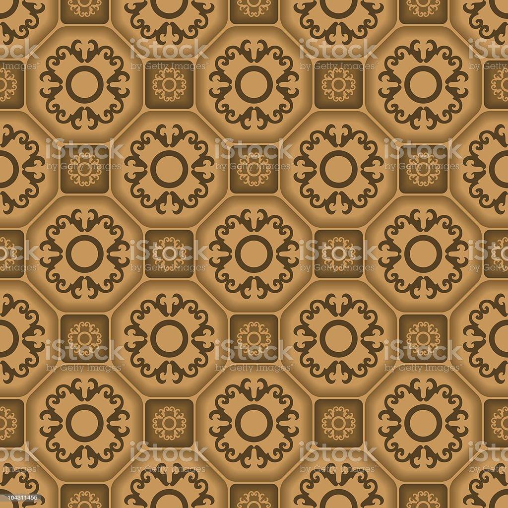 Seamless ornament tile pattern royalty-free stock vector art