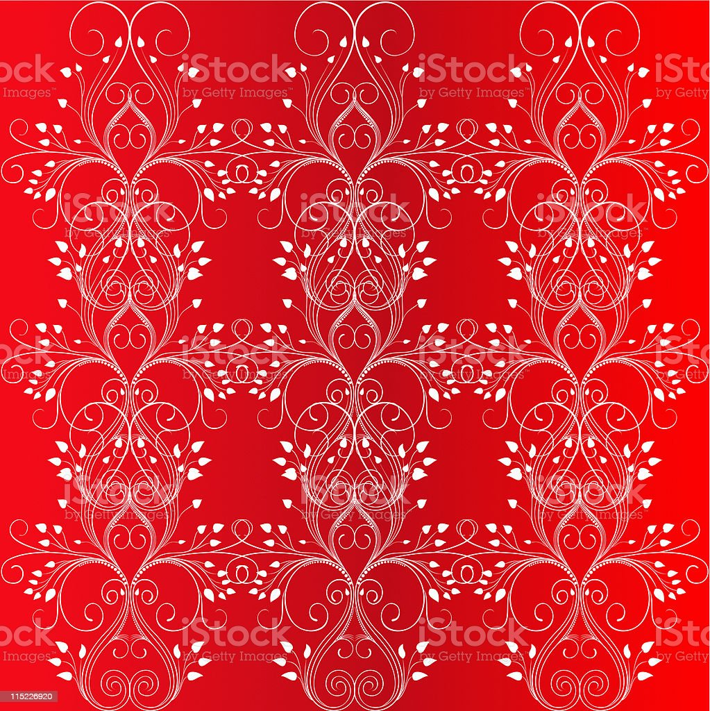 Seamless ornamental floral background royalty-free stock vector art
