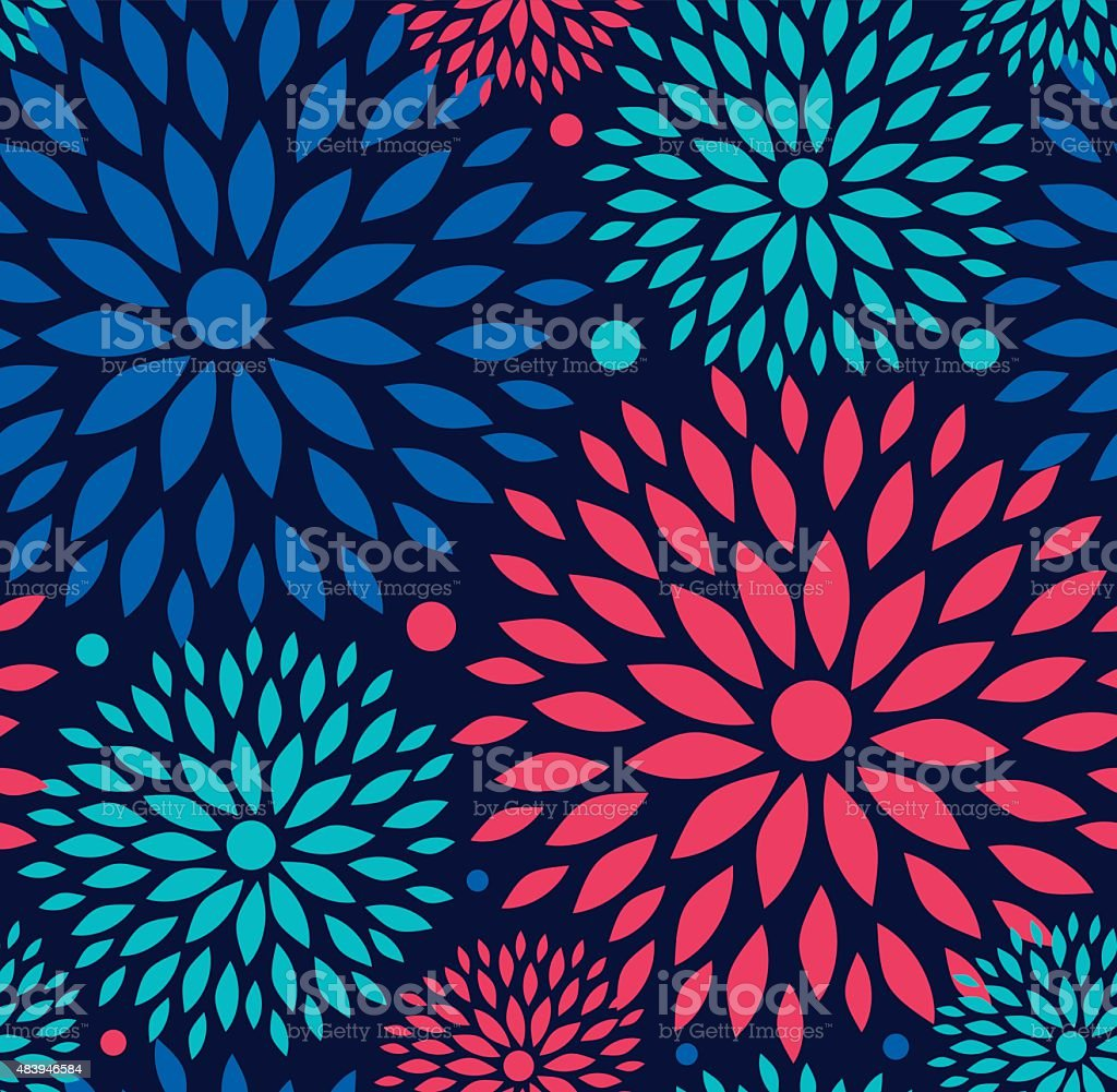 Seamless ornamental floral pattern. vector art illustration