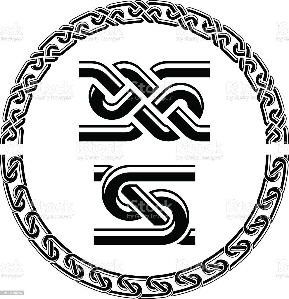 seamless ornamental knot frames vector art illustration