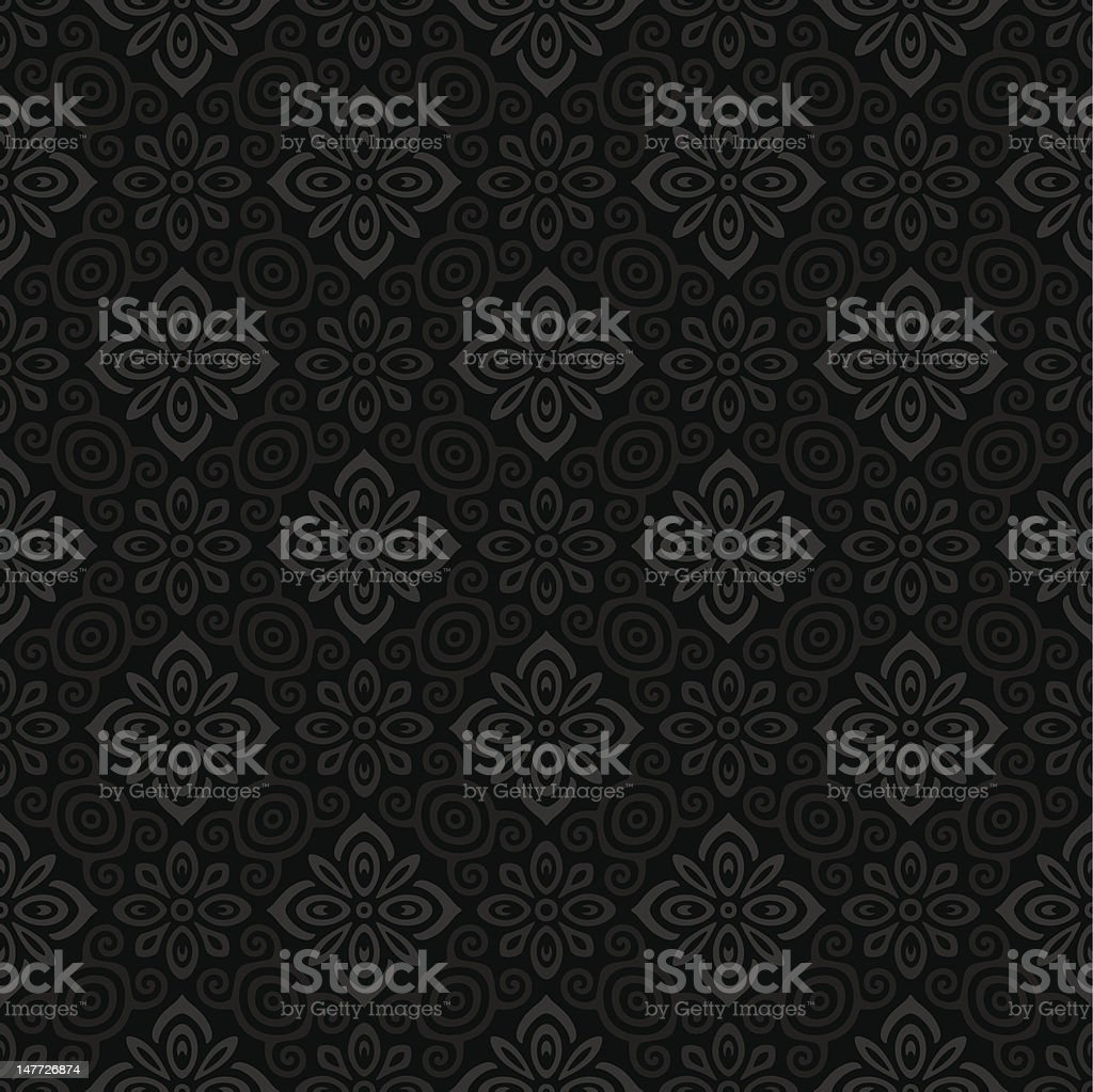 Seamless ornamental pattern vector art illustration