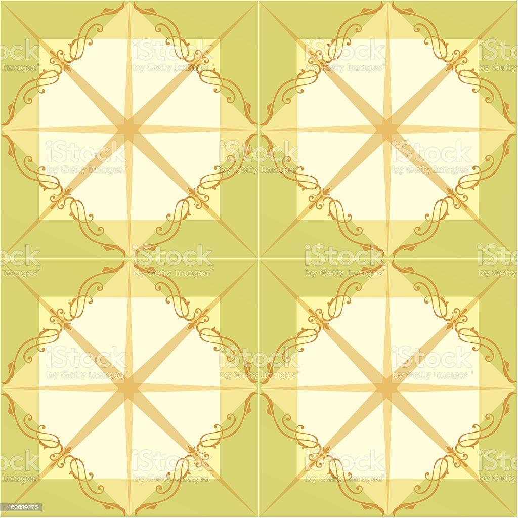 Seamless ornamental tile background vector illustration vector art illustration