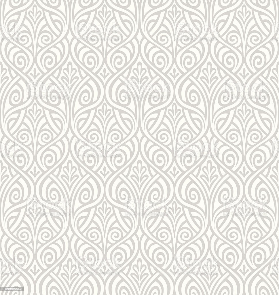 Seamless Ornamental Wallpaper vector art illustration