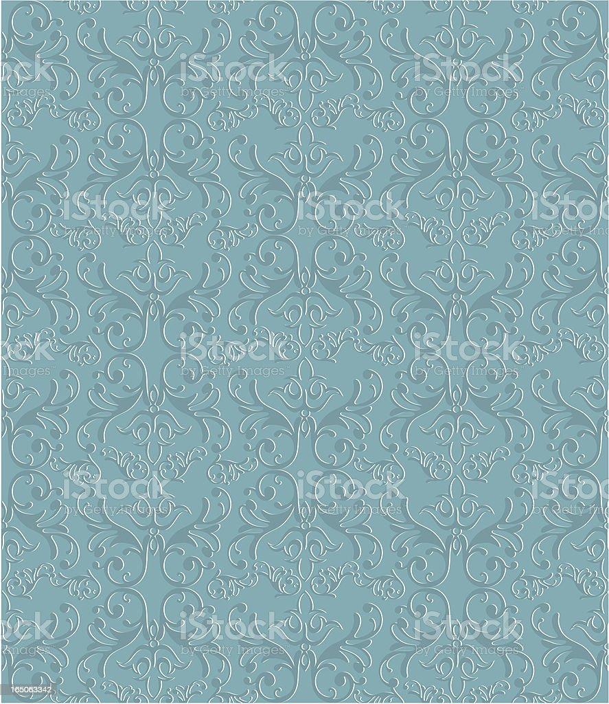 Seamless ornamental wallpaper. vector art illustration