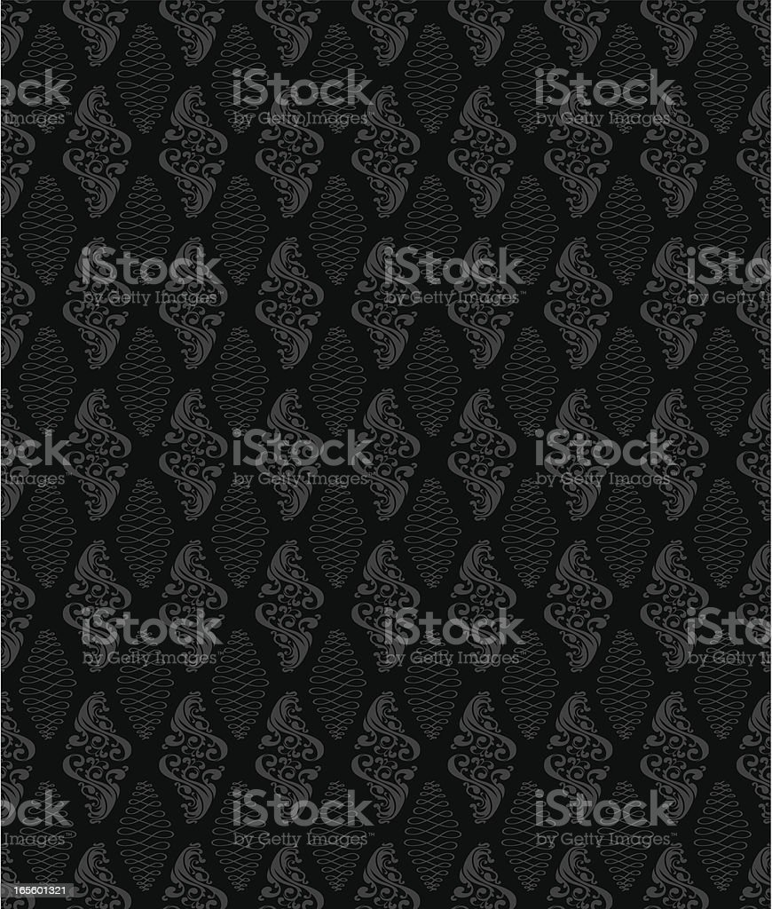 Seamless - Ornate Background black/grey royalty-free stock vector art