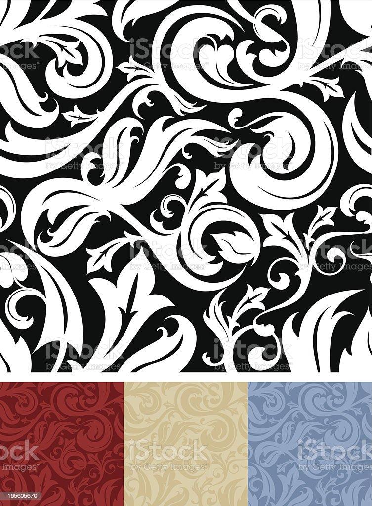 Seamless Ornate Pattern vector art illustration