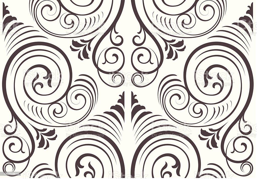 Seamless ornate wallpaper background royalty-free stock vector art