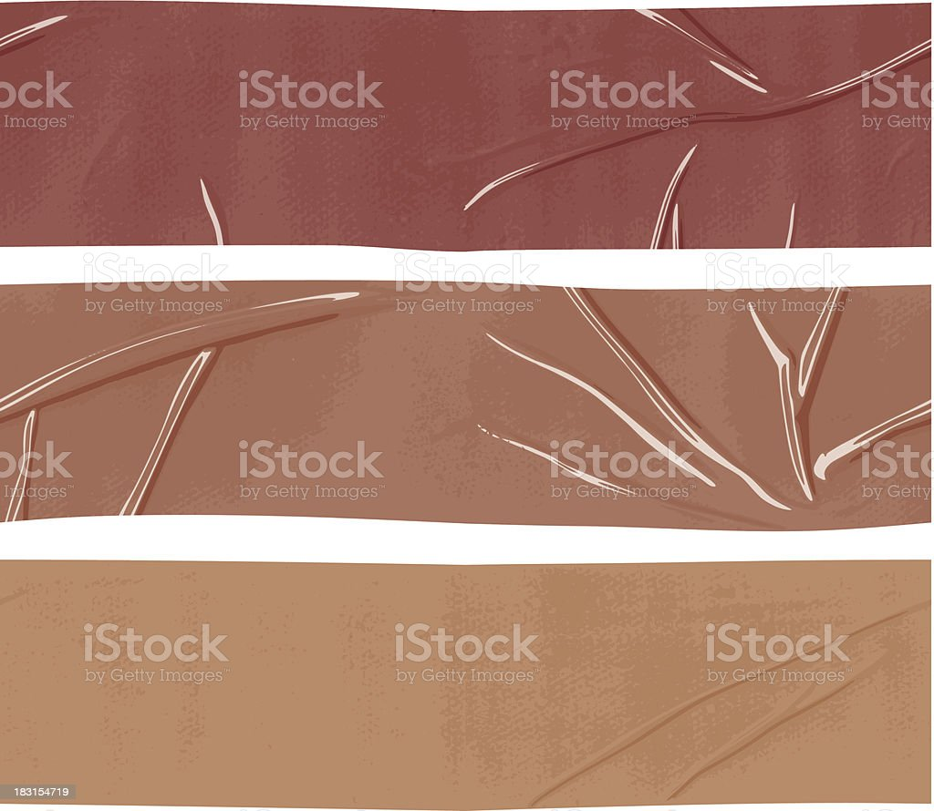 seamless packing duct tape banners vector art illustration