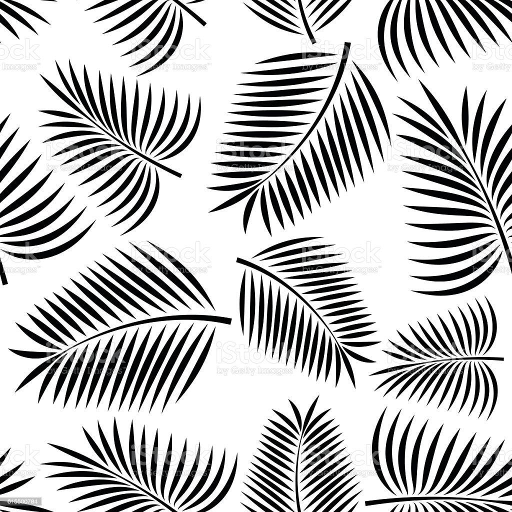 Seamless Palm vector art illustration