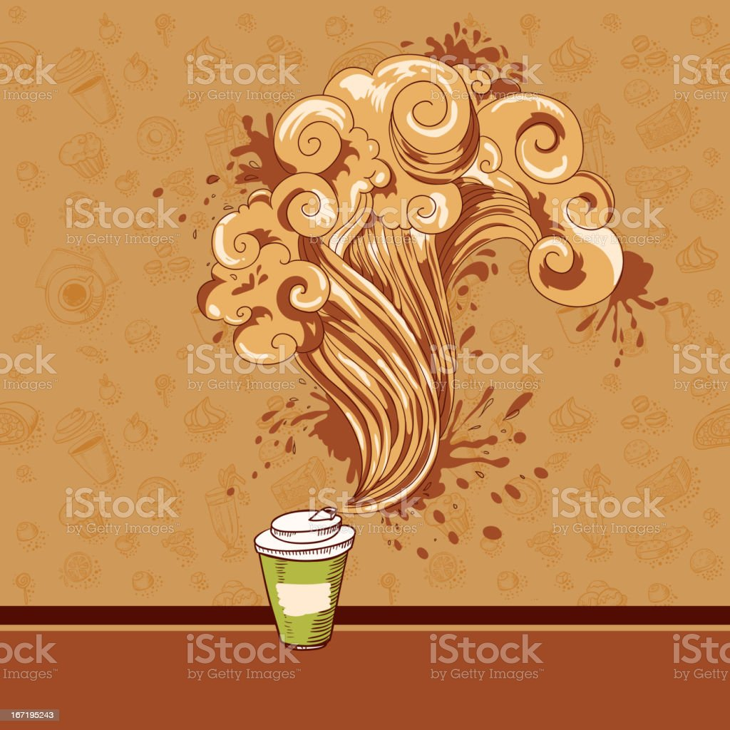 Seamless pastry and coffee waves concept royalty-free stock vector art