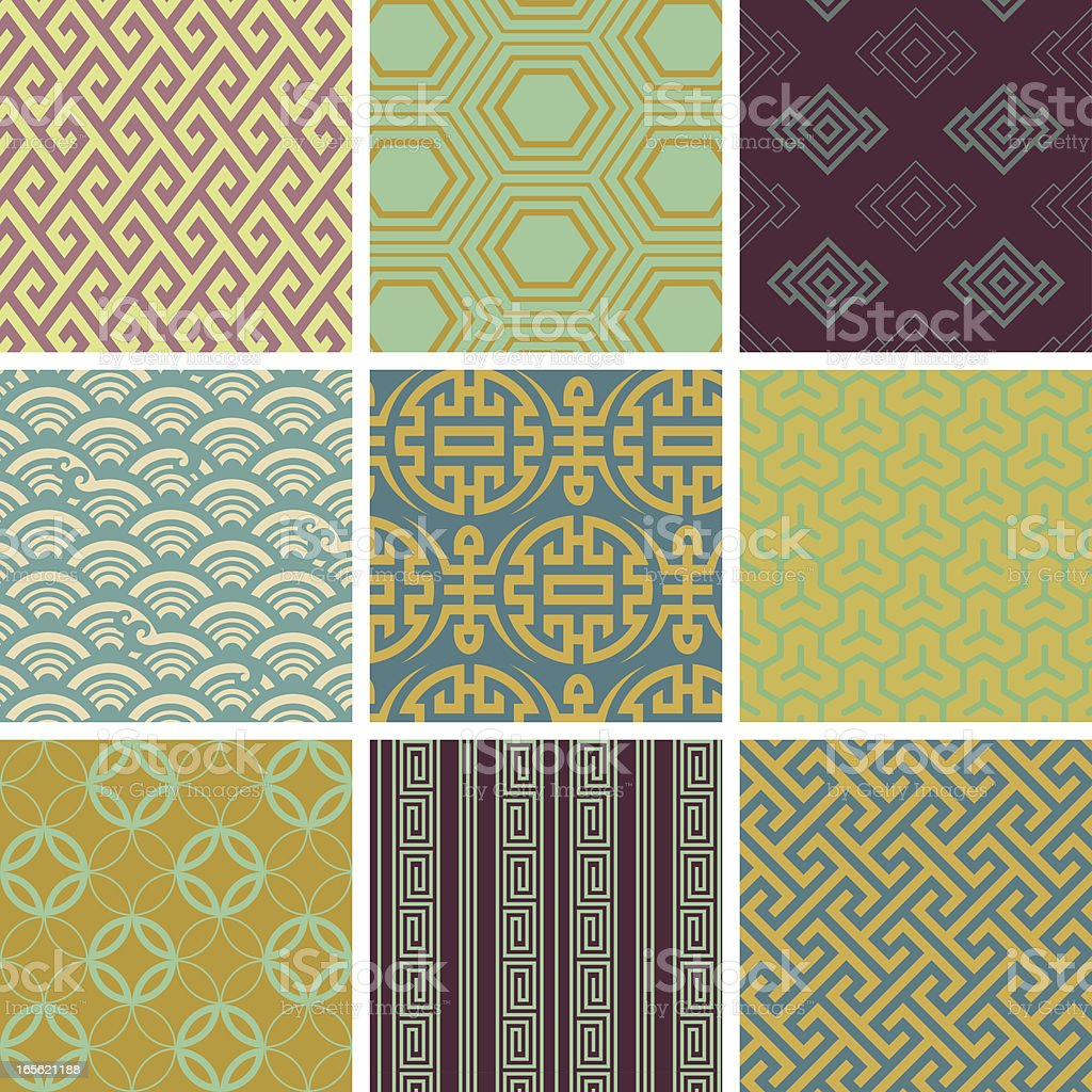 Seamless  pattern _ oriental vector art illustration