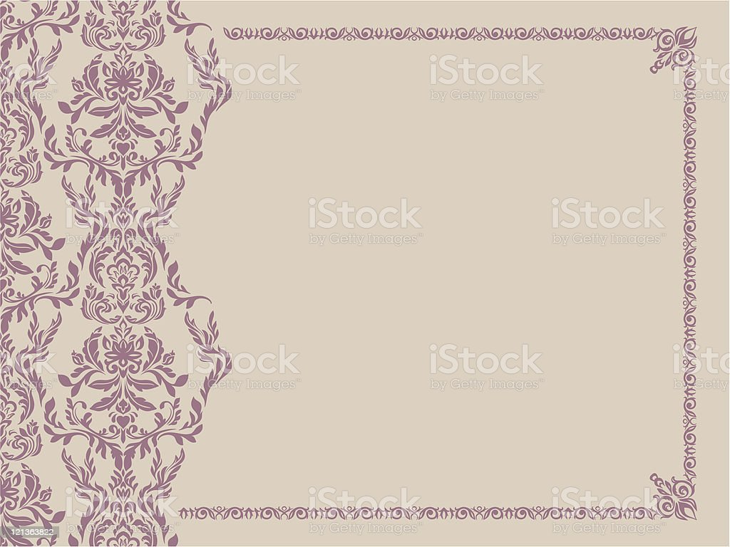 Seamless pattern and decorative frame royalty-free stock vector art