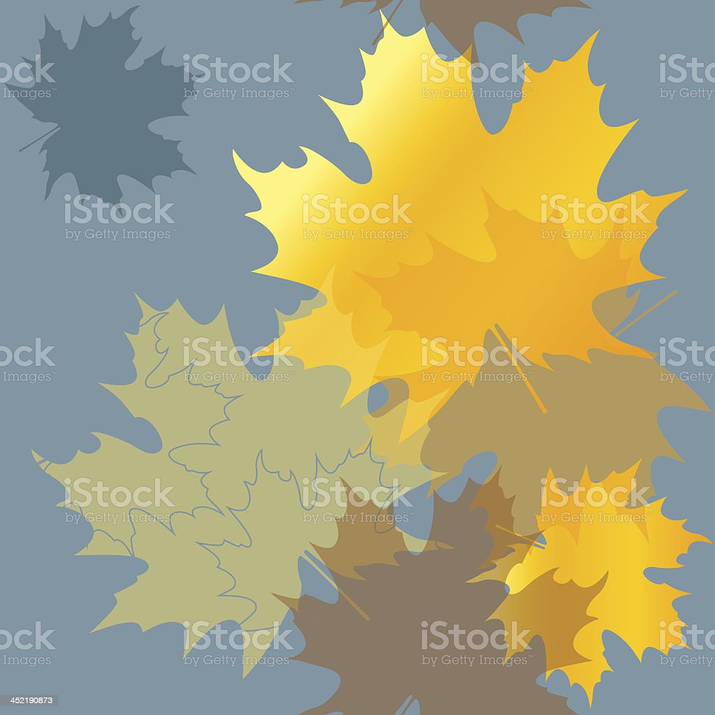 Seamless pattern autumn maple leaves royalty-free stock vector art