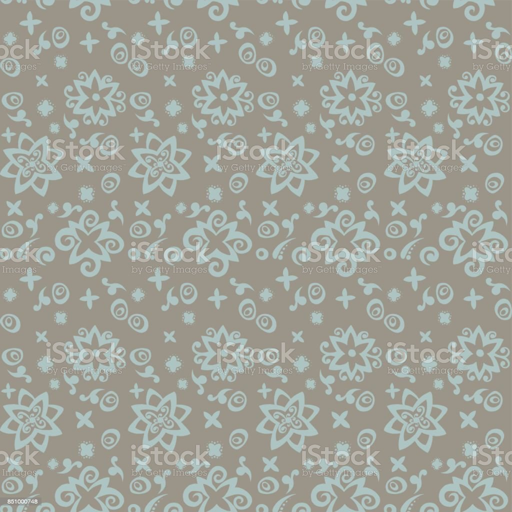 Seamless pattern background beige and blue. vector art illustration