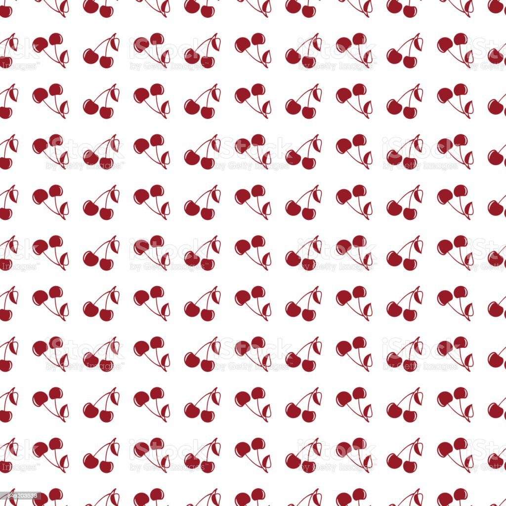Seamless pattern background in cherry. vector art illustration