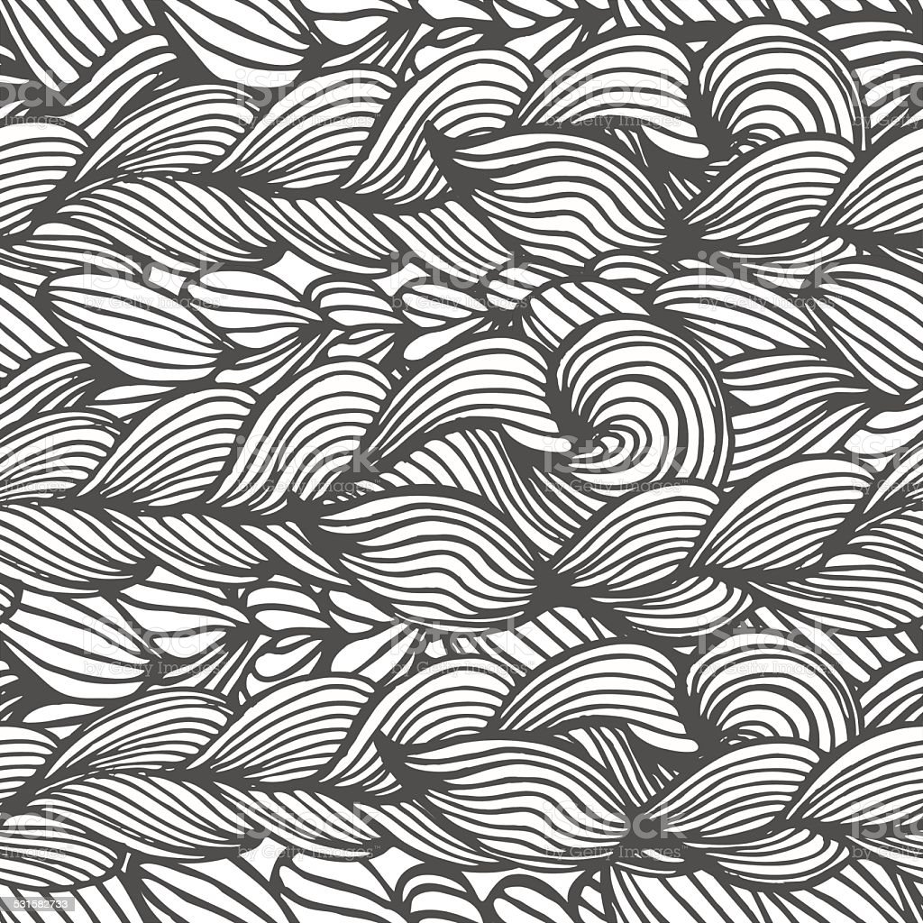 seamless pattern  background  with  braids. vector art illustration