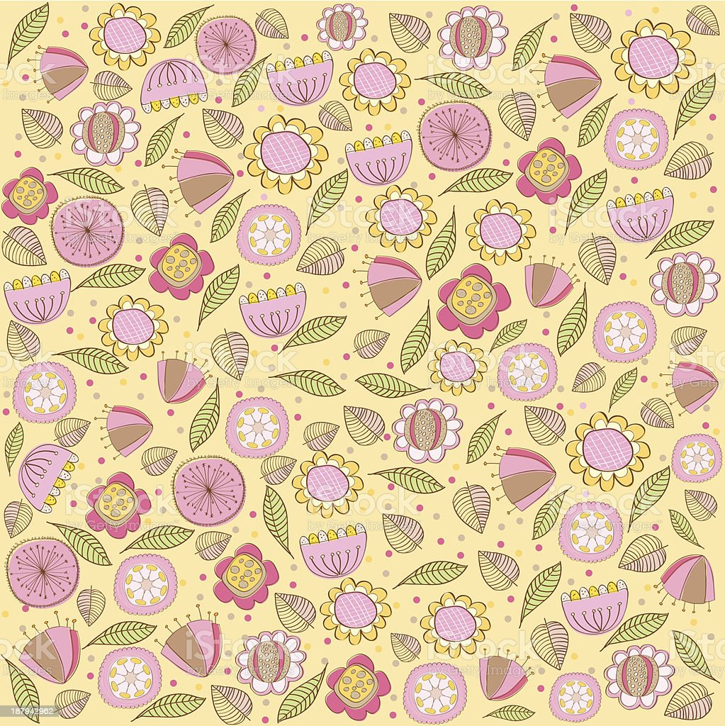seamless pattern background with flowers royalty-free stock vector art