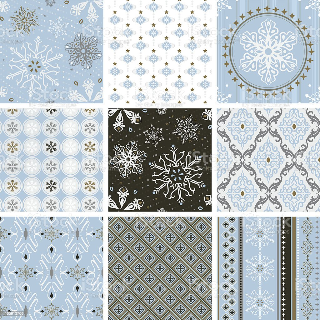 Seamless pattern - Blue Christmas royalty-free stock vector art