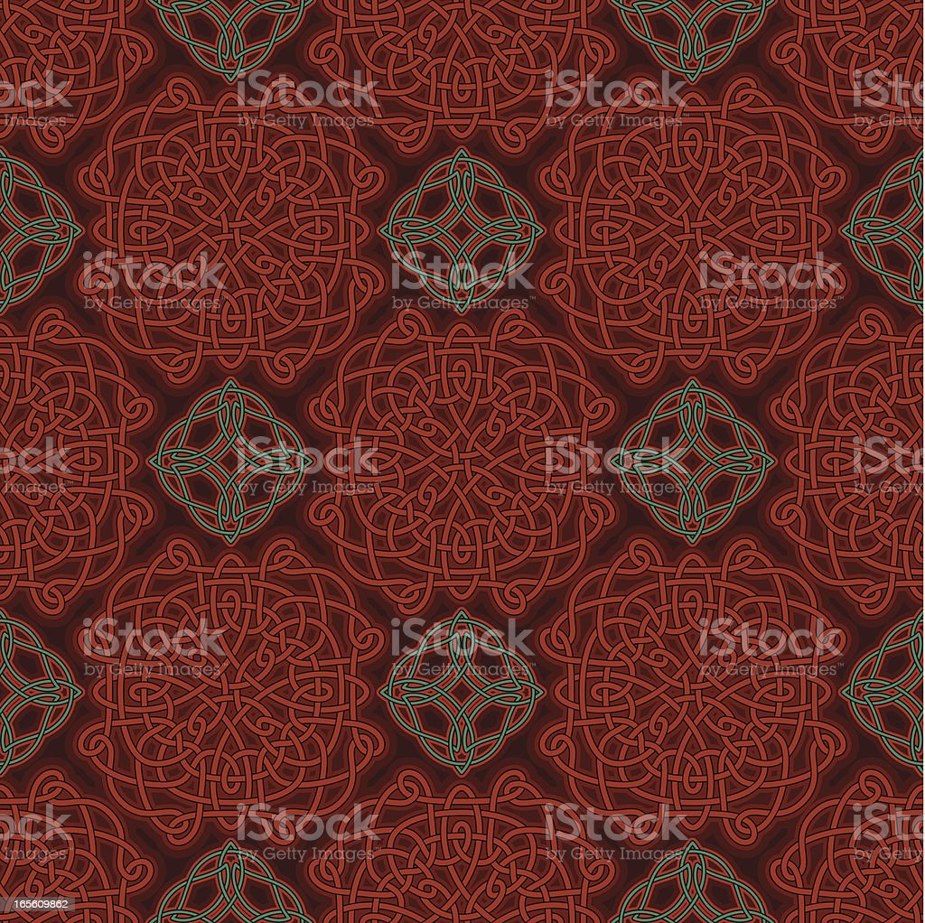 Seamless Pattern - Celtic Knot Lacy royalty-free stock vector art