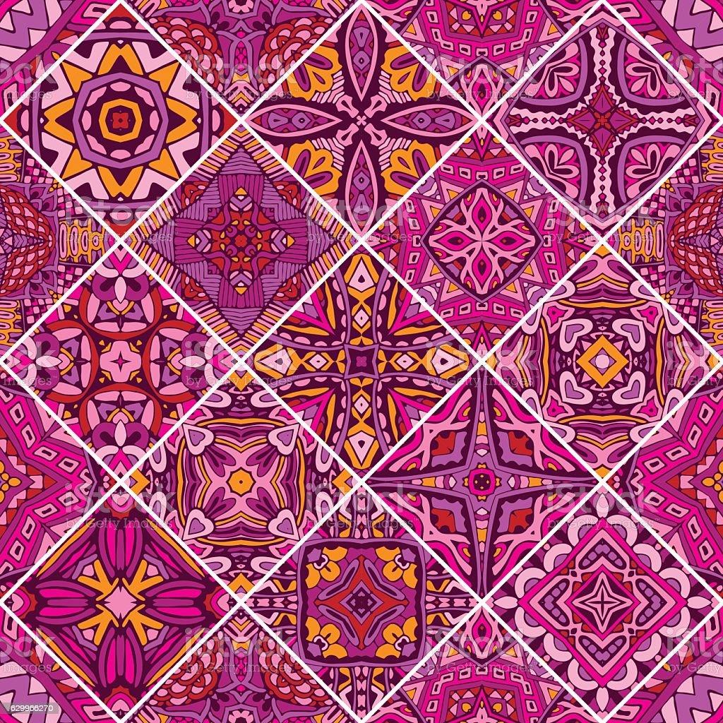 seamless pattern ceramic tiles vector art illustration