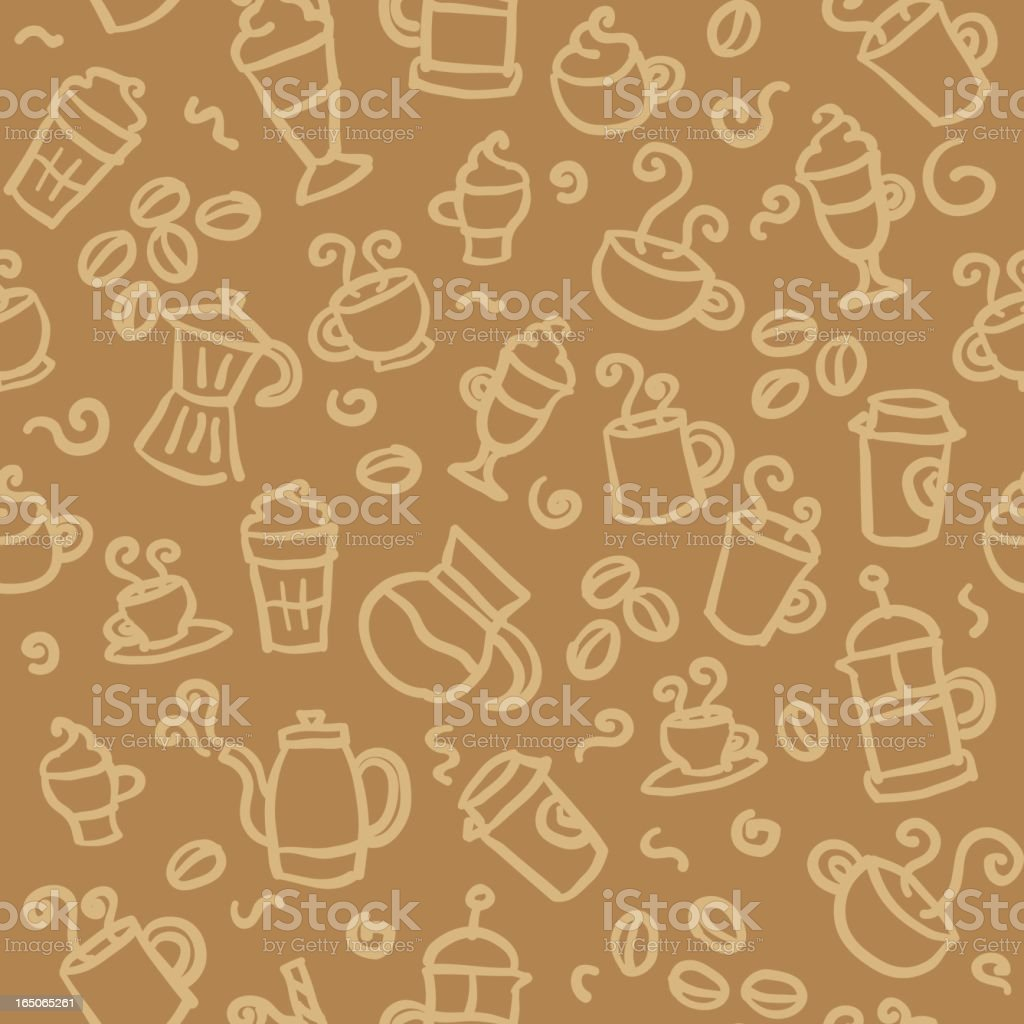 seamless pattern: coffee royalty-free stock vector art