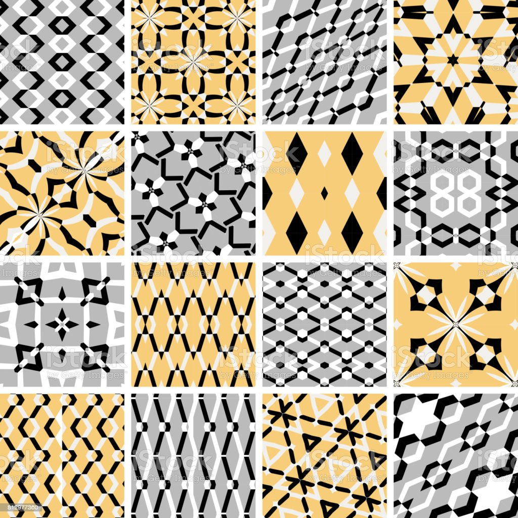 Seamless Pattern Collection vector art illustration