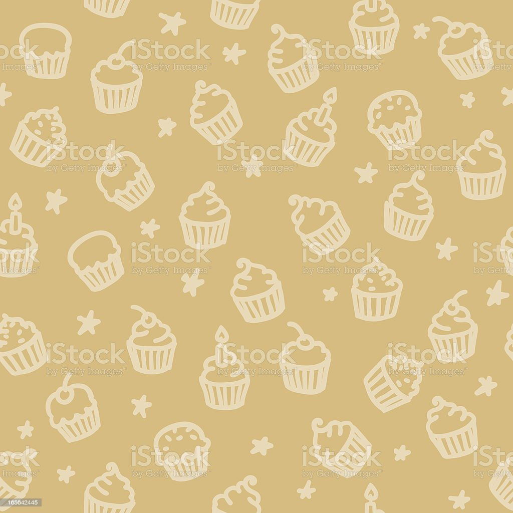 seamless pattern: cupcakes royalty-free stock vector art
