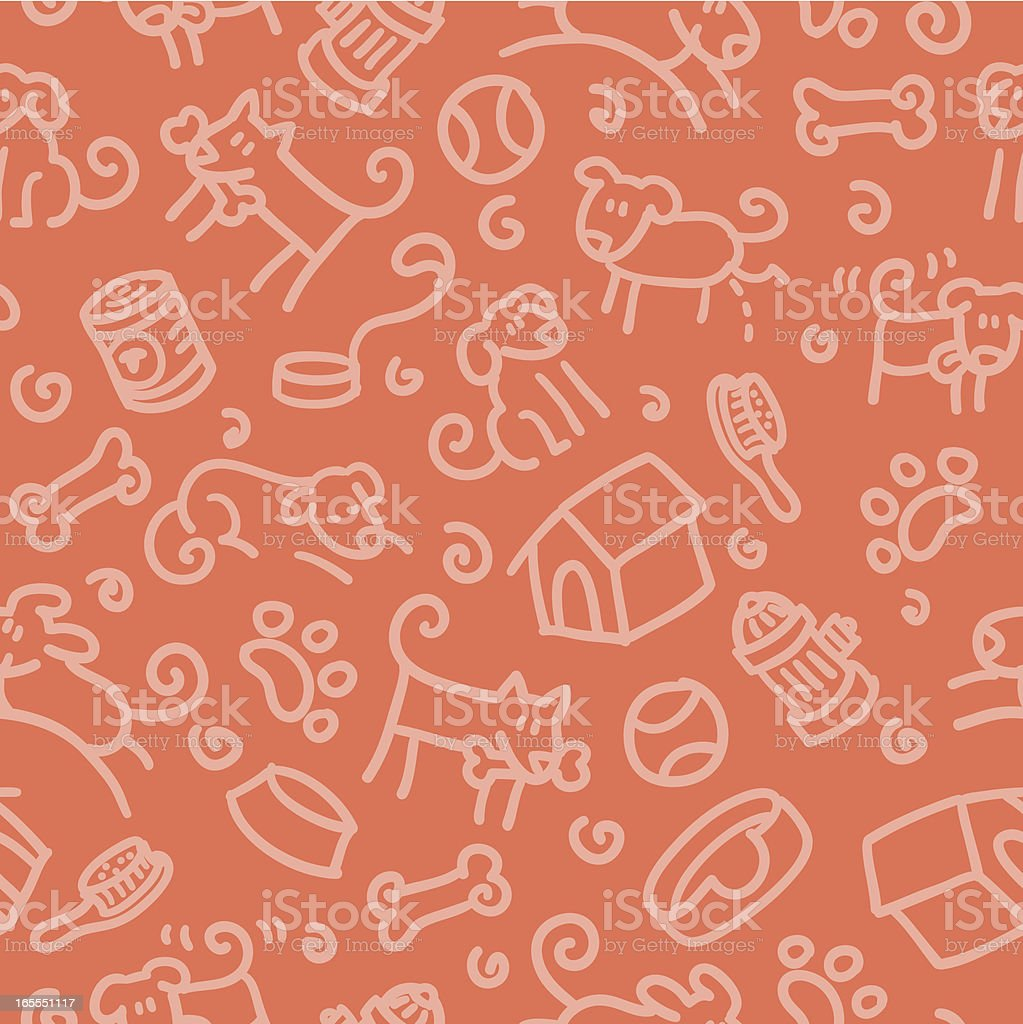seamless pattern: dog vector art illustration