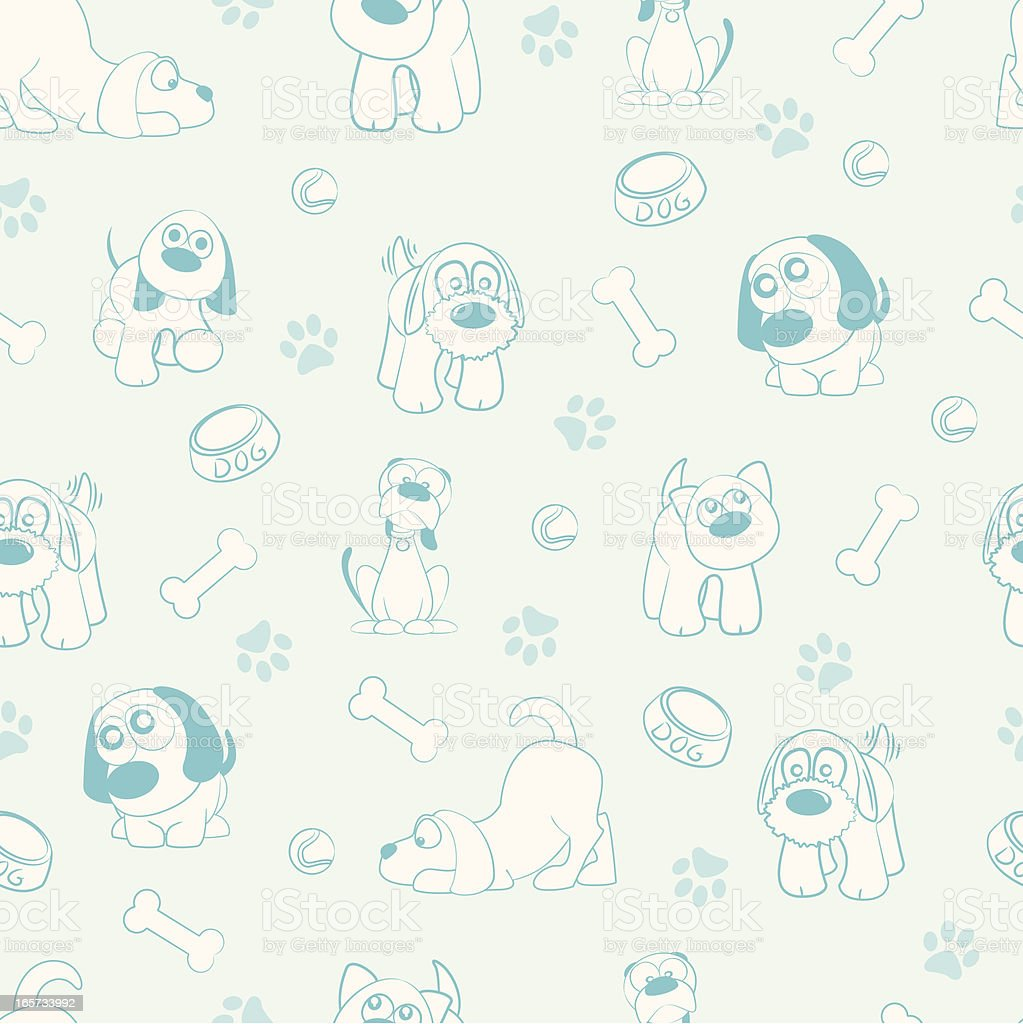 Seamless Pattern - Dogs! royalty-free stock vector art