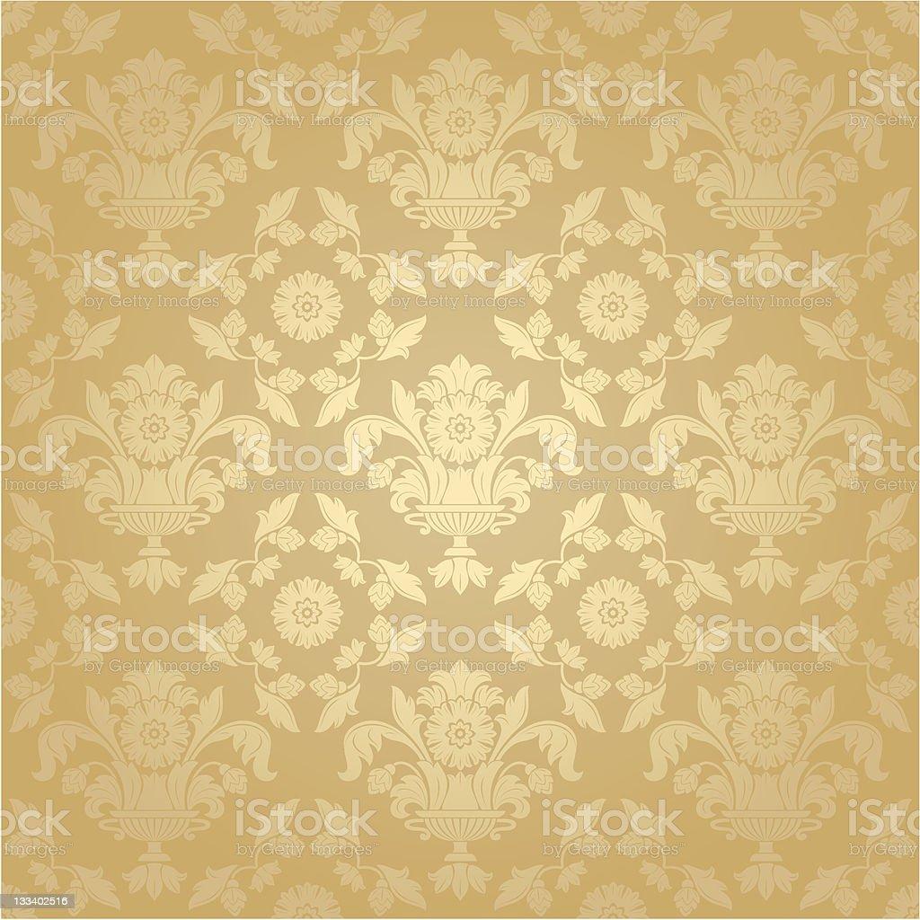 Seamless pattern, floral background vector art illustration