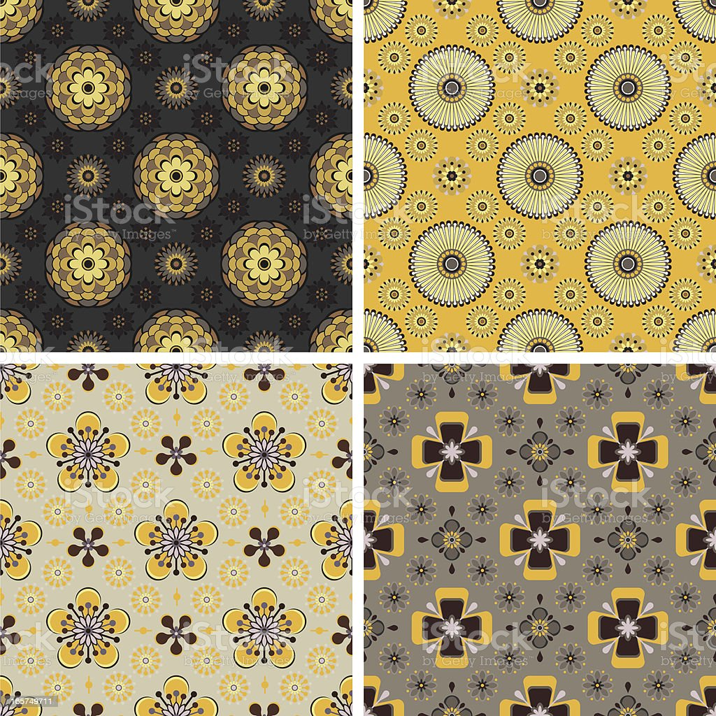 Seamless pattern - floral royalty-free stock vector art