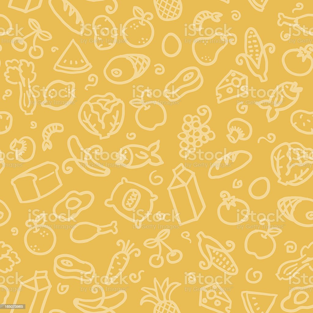 seamless pattern: food vector art illustration