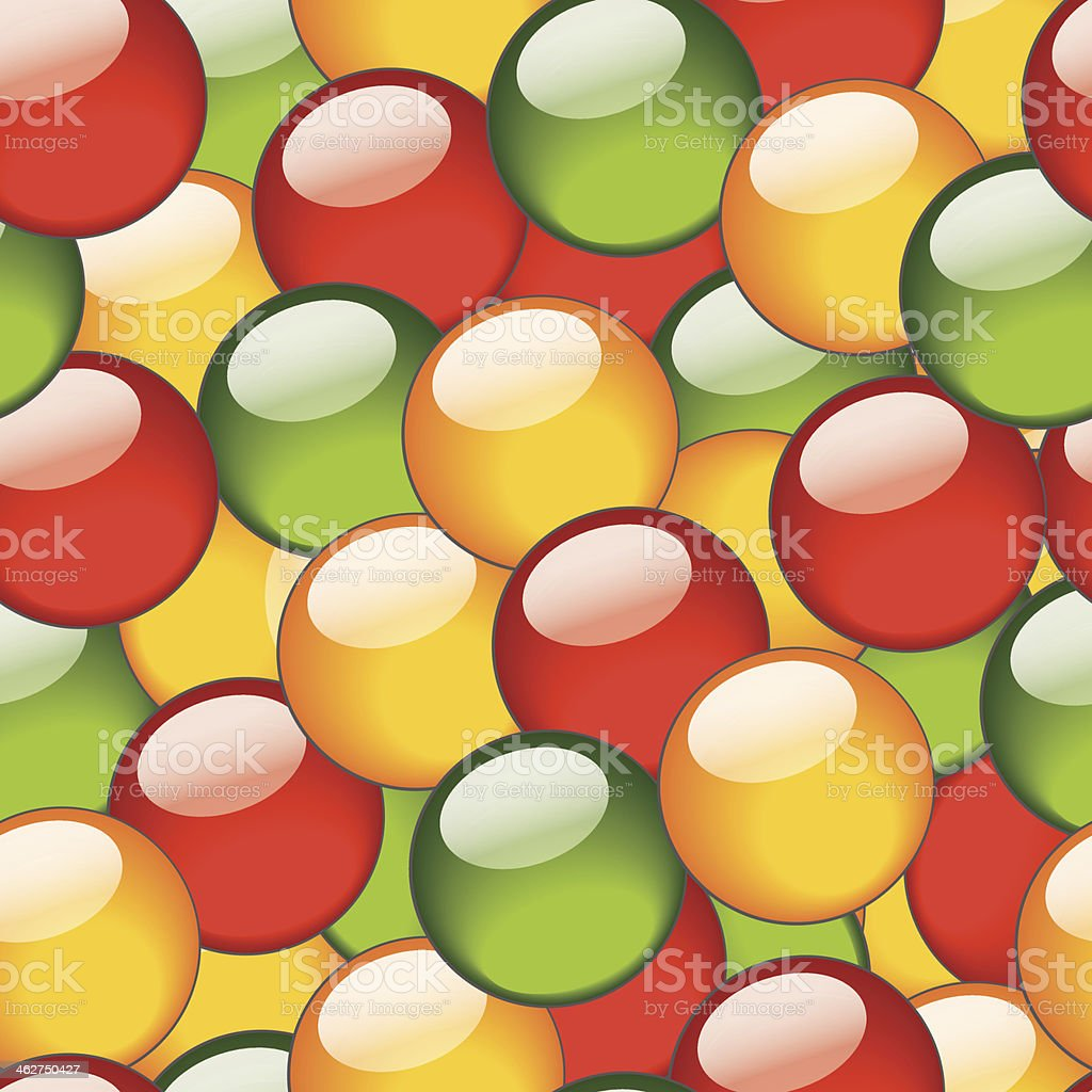 Seamless pattern for background with bright balls royalty-free stock vector art