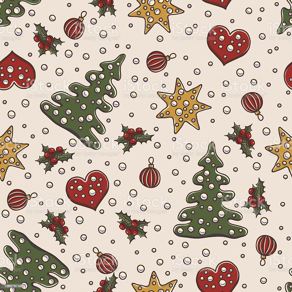 Seamless pattern for Christmas and New Year royalty-free stock vector art