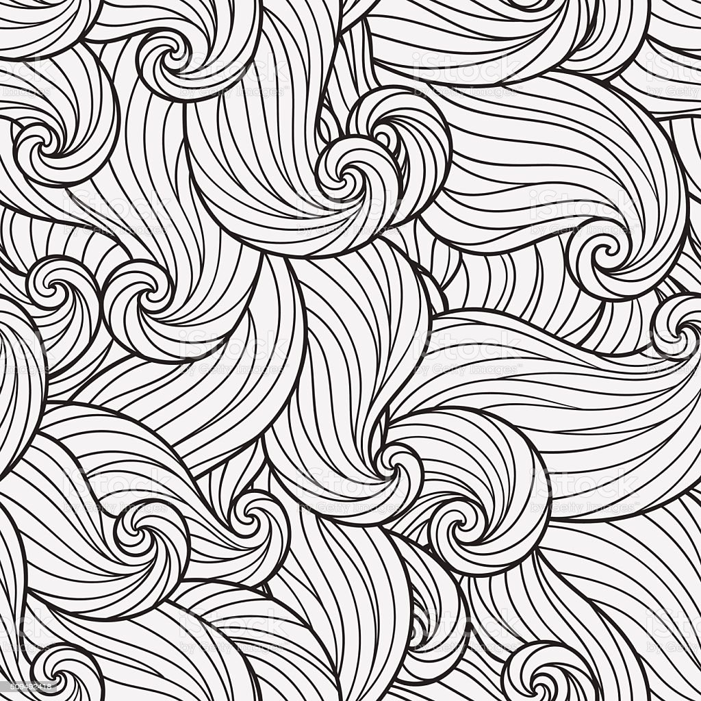 Seamless Pattern for coloring book. vector art illustration