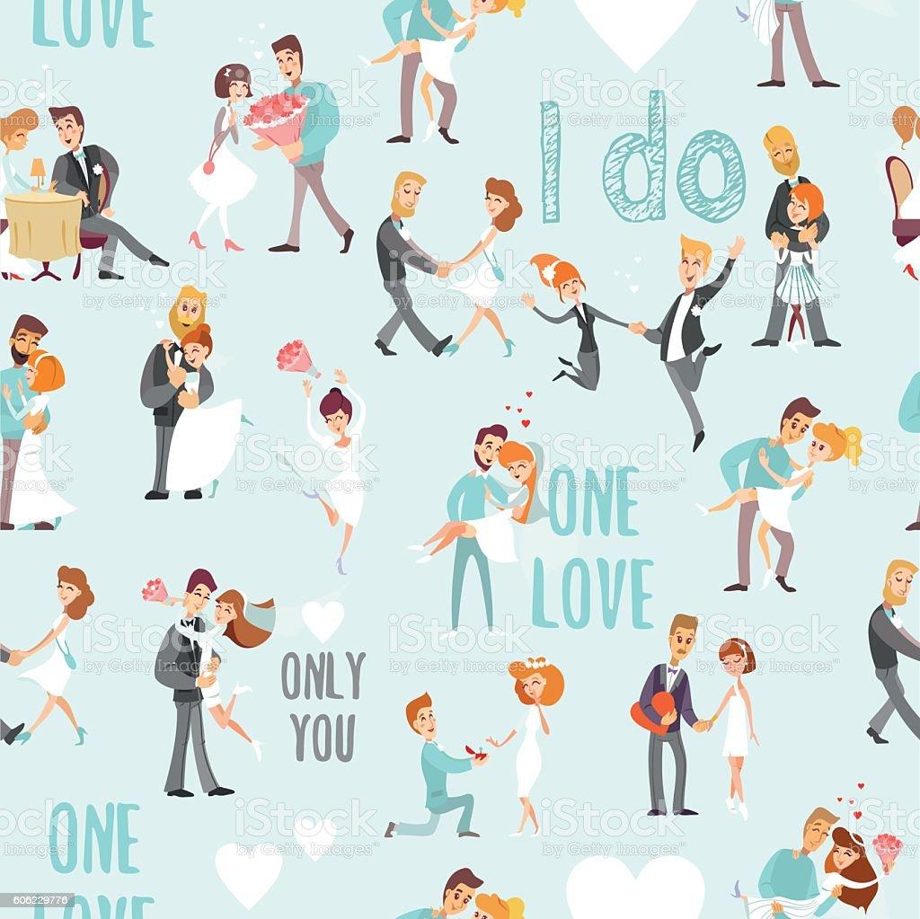 Seamless pattern for wedding invitation vector art illustration