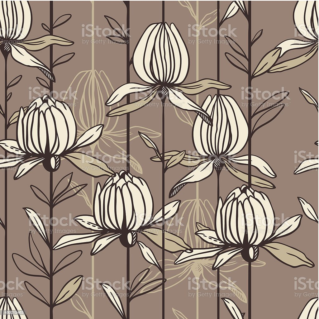 Seamless pattern from flowers in pastel tones royalty-free stock vector art