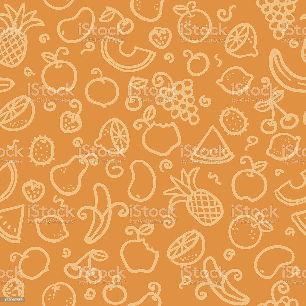 seamless pattern: fruit vector art illustration
