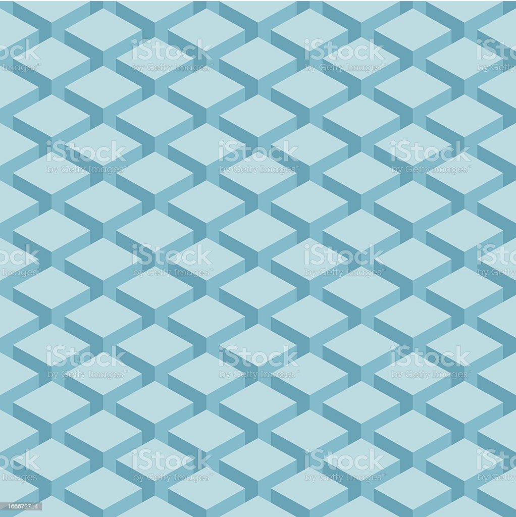 Seamless pattern geometric shape texture blue background royalty-free stock vector art