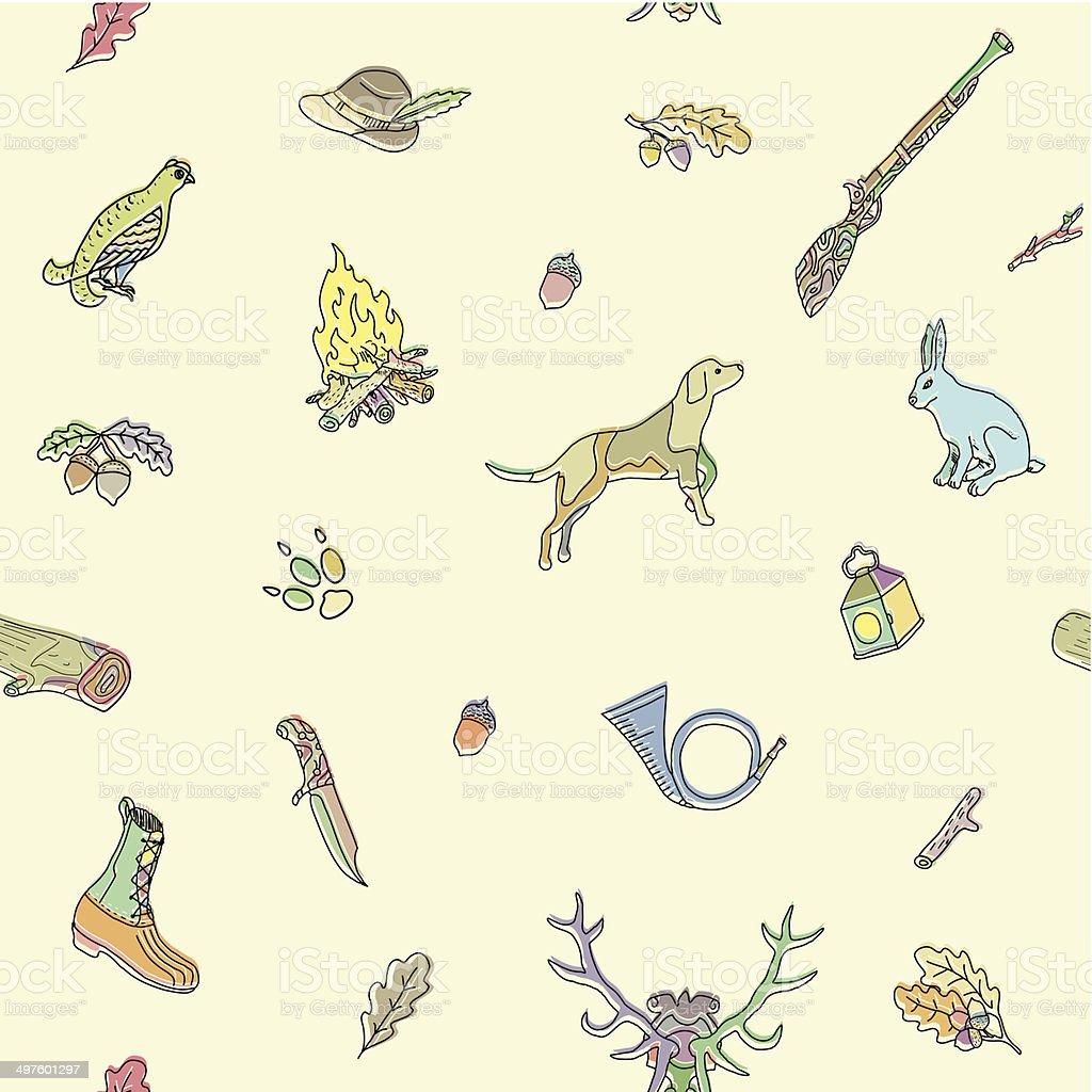 Seamless pattern. Hunting. royalty-free stock vector art