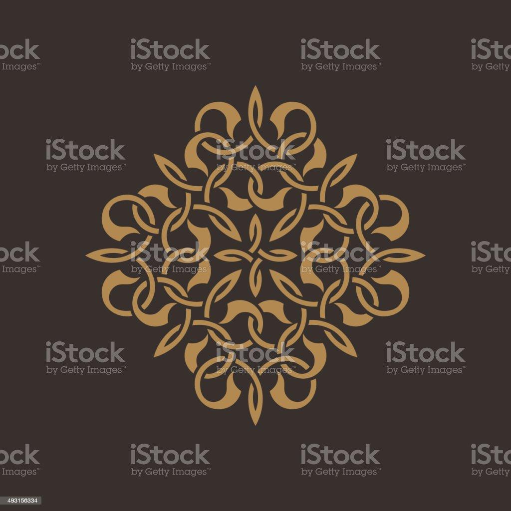 Seamless pattern in arabic style vector art illustration