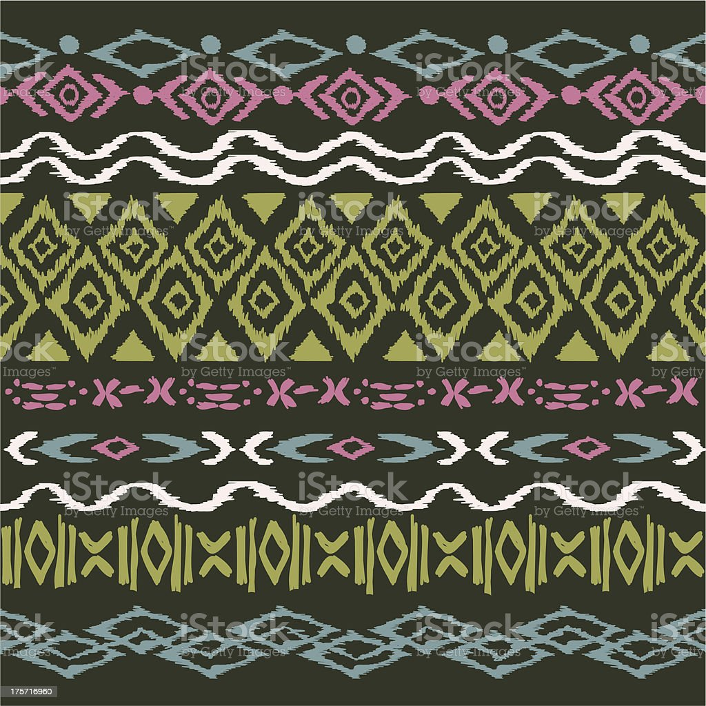 seamless pattern in aztec style royalty-free stock vector art