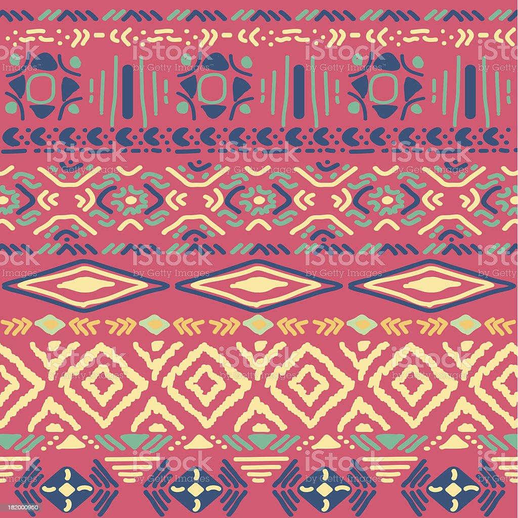 seamless pattern in aztec style vector art illustration
