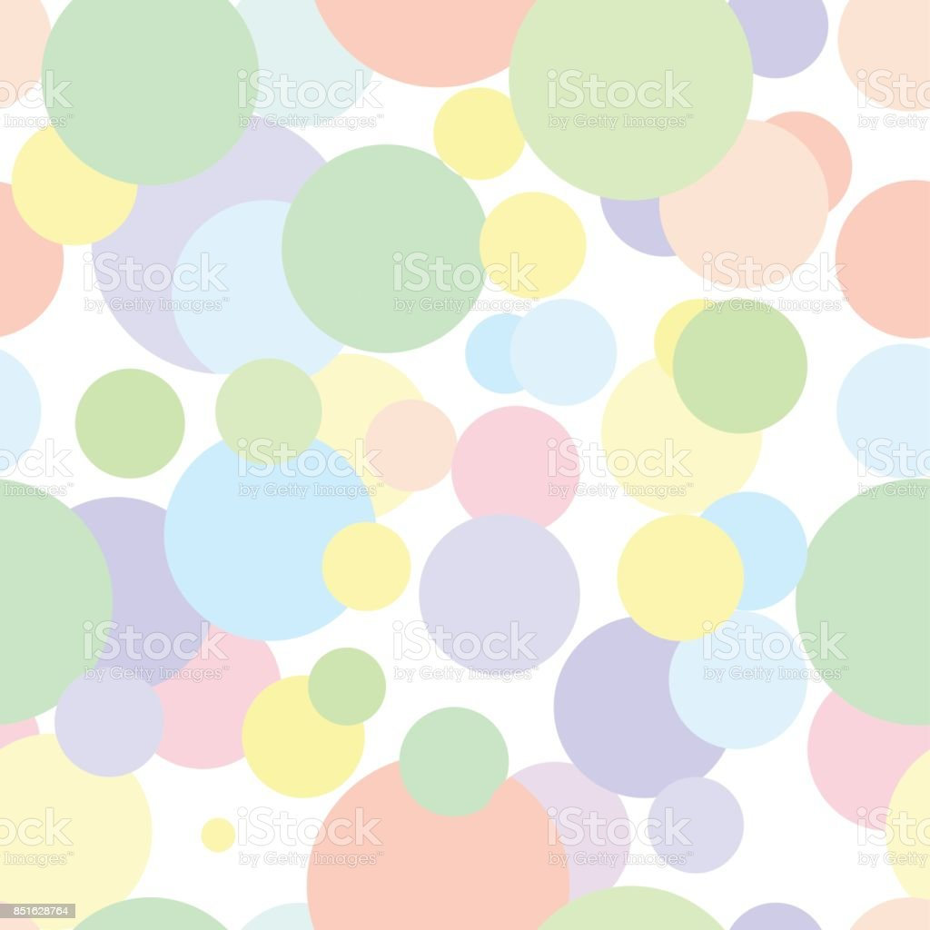 Seamless pattern in colored abstract circles. vector art illustration
